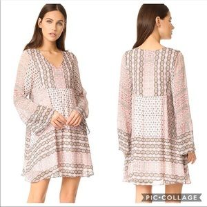 Rebecca Minkoff Redlands Long Sleeve Boho Dress S